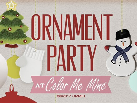 Ornament Painting Party! Saturday, November 30th @ 11:00am
