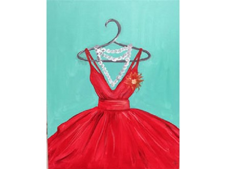 Paint & Sip - Red Ball Gown - Dec. 9 - 3PM