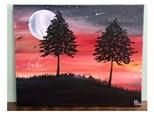 Spooky Sunset Paint Class @ Bodega Brew