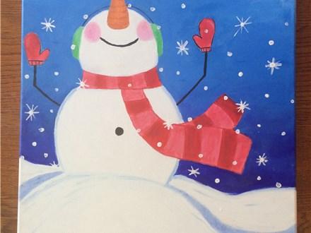 "Tween Canvas Night! ""Let it Snow"" Friday, December 23rd 6-8pm"