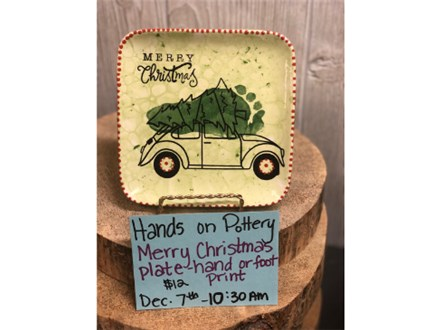 Kid's Class - Merry Christmas Plate-Hand or Foot Print - Dec. 7th 10:30 am
