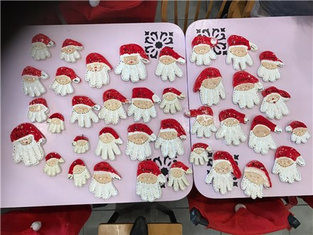 December 2nd Santa Hands in Clay Family Day