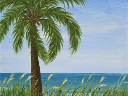 Beach Palm (12x16)
