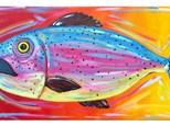 Colorful Trout - 10x20 canvas