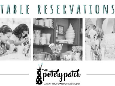 6 SEAT Table Reservation @ The Pottery Patch