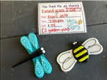 You Had Me at Merlot - Fused Glass Dragonfly and Bee - April 23rd