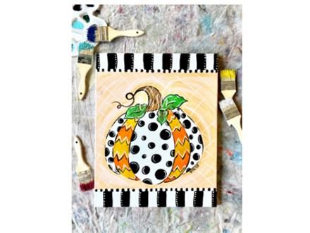 Patterned Pumpkin VIRTUAL Paint Class
