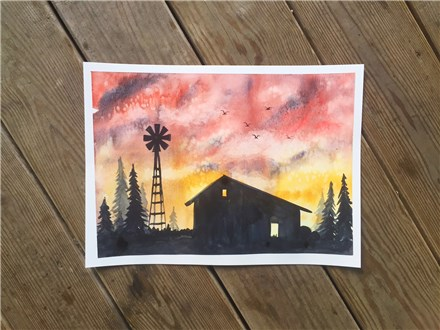 REPEAT Rustic Barn Watercolor Class (ages 13+)