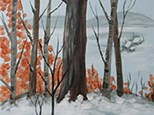 Winter In The Woods Canvas Paint Night - November 15th