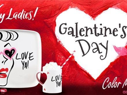 GALentine's Day at Color Me Mine!