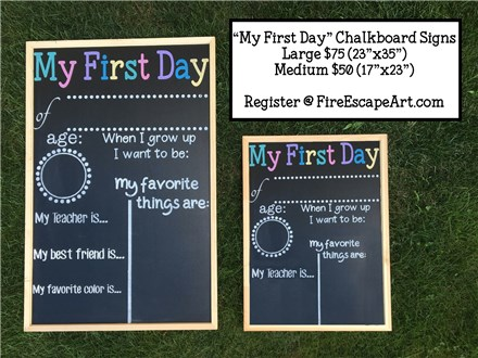 """First Day"" Chalkboard Workshop"