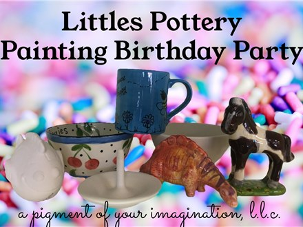 Littles Pottery Painting Birthday Party