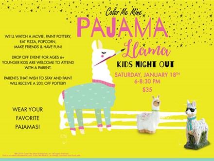 Pajama Llama Kids Night Out - January 25th