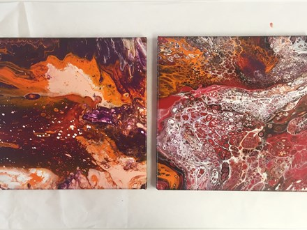 THREE-PEAT Acrylic Pouring (Adult BYOW) Class 7/13