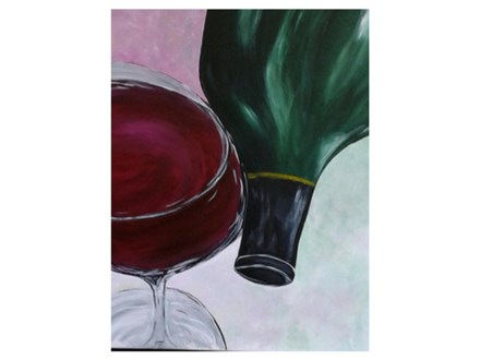 Wine and a Bottle - Paint & Sip - Feb 15