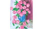Canvas & Wine Night!  Antique Roses!  1/30/17