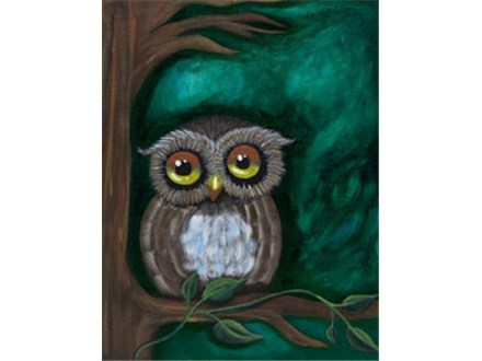 Adult Canvas - Owl Be Watching - Morning Session - 09.29.17