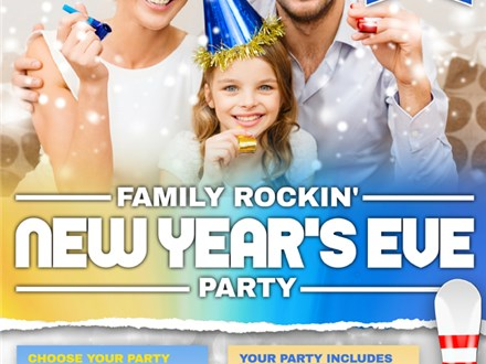 Family Rockin' New Year's Eve Party - Bowling Package