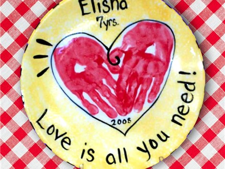 Feb 5th • Valentine's Hand Print Event • Color Me Mine Aurora