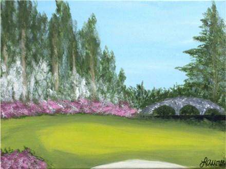 Spring in Augusta - canvas size 12x16
