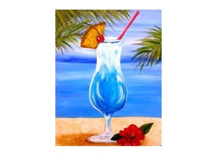 Blue Hawaiian Canvas and Cocktails