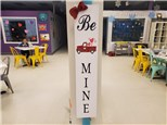 Be Mine Wooden Welcome Board