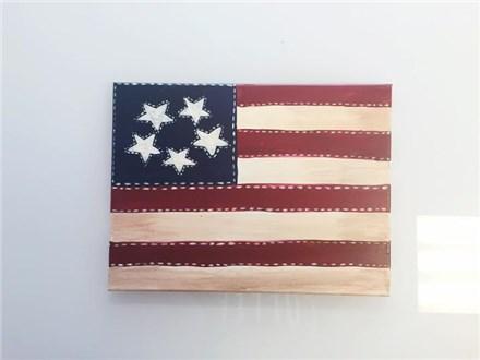 Americana Flag (Adult) Canvas Class