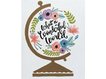 """Wonderful World"" Canvas Class, March 15th"