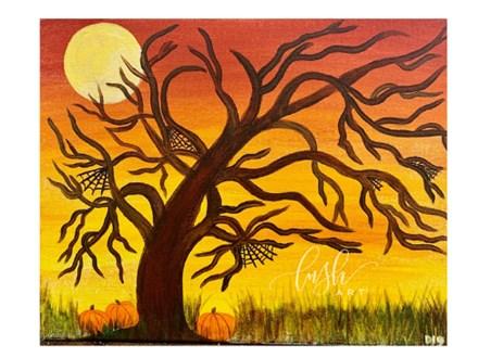 Spooky Tree Paint Class