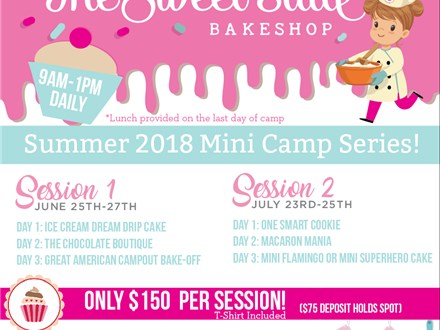 Summer 2018 Mini Camp Series Session 1 (June 25th-27th)