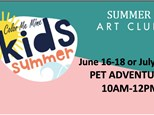 Pet Adventures Art Camp  7/21-7/23