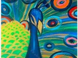 """""""PRETTY PEACOCK KIDS CANVAS PAINTING - OCT 20TH"""