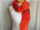 Teen Scarf with Fringe: Intro Knitting