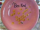 Family Pottery - Bee Kind Dinner Plate - 07.29.18