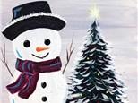 CANVAS NIGHT: JOLLY SNOWMAN