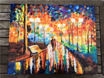 """Canvas Night, """"The Bench,"""" March 11th 7-10pm"""
