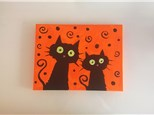Halloween Kitties (kids ages 6+) Canvas Class