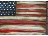 Wine & Design - Antique Flag Canvas Painting (Deposit)