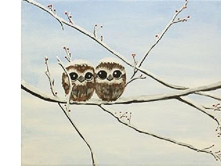 Canvas & Wine Night! Snow Owls! 11/30/18