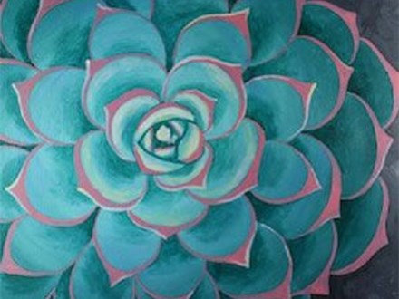 "Canvas & Coffee ""Succulent"""