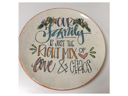 Love and Chaos Family Charger Plate