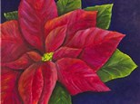 Adult Canvas Night Dec 10th Red Poinsettia
