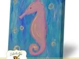 Summer Camp Thursday, July 5th Sparkly Seahorse Canvas