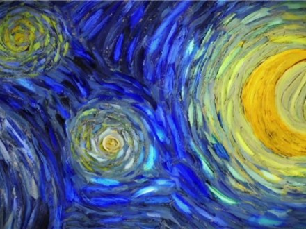 Starry Night Light Up Canvas - January 26