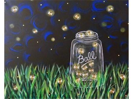 Kid's Canvas Class - Catchin' Fireflies