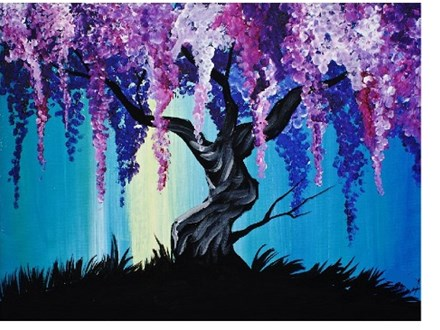 Wisteria Willow - Canvas - Paint and Sip