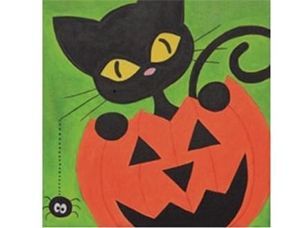 Kids' Canvas Class!  Halloween Cat! 10/27/18