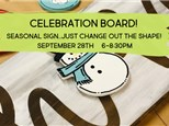 CELEBRATION Board With Interchangeable Pieces @ The Pottery Patch