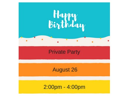 Happy Birthday! - Private Paint & Sip - Aug 26