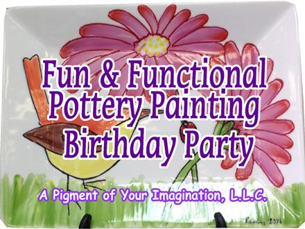 Fun & Functional Pottery Painting Birthday Party